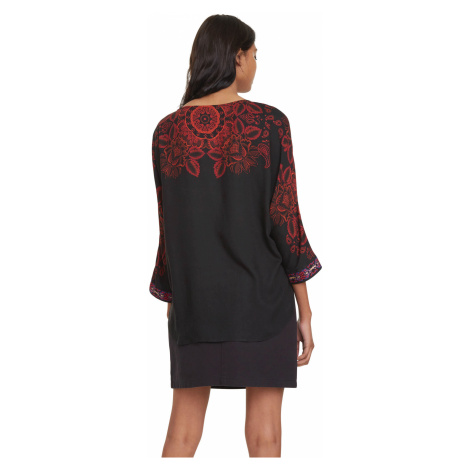 Desigual Lumbe Blouse Black Red