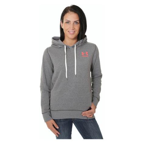 sweatshirt Under Armour Faforite Big Logo - 090/Carbon Heather/Carbon Heather