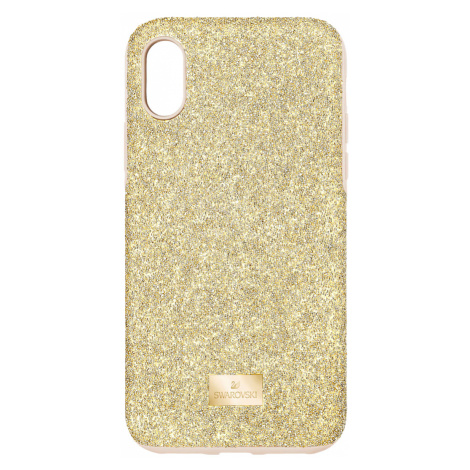 High Smartphone Case with Bumper, iPhone® XS Max, Gold tone Swarovski