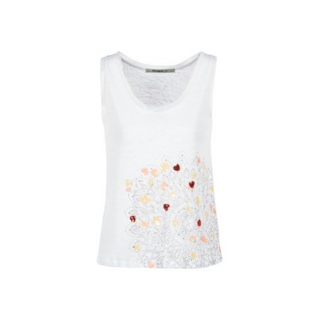 Desigual TEDEREO women's Vest top in White