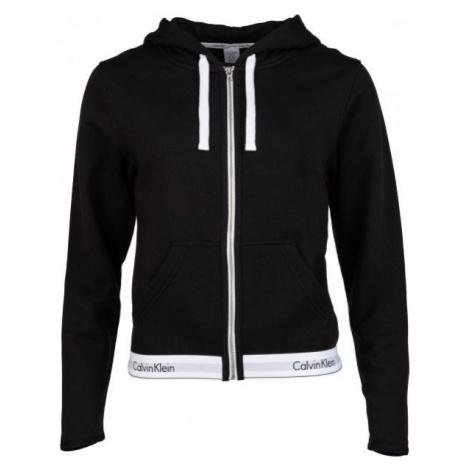 Calvin Klein TOP HOODIE FULL ZIP black - Women's hoodie