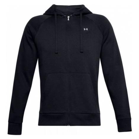 Under Armour RIVAL FLEECE FZ HOODIE black - Men's sweatshirt