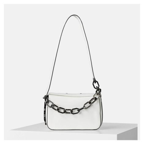 KARL LAGERFELD Women's K/Letters Small Shoulder Bag - White