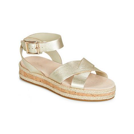 Clarks BOTANIC POPPY women's Sandals in Silver