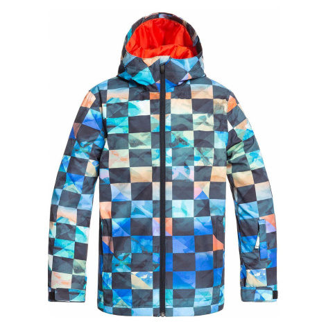 jacket Quiksilver Mission Printed - NZG1/Poinciana Ongrid - boy´s