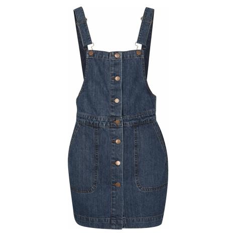Urban Classics - Ladies Denim Dugarees Dress - Dress - blue