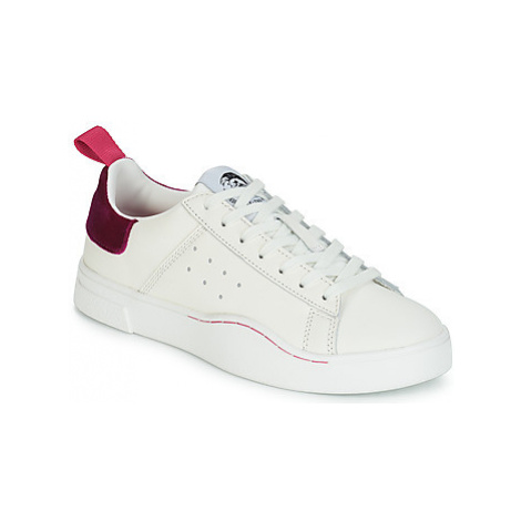 Diesel S-CLEVER LOW W women's Shoes (Trainers) in White