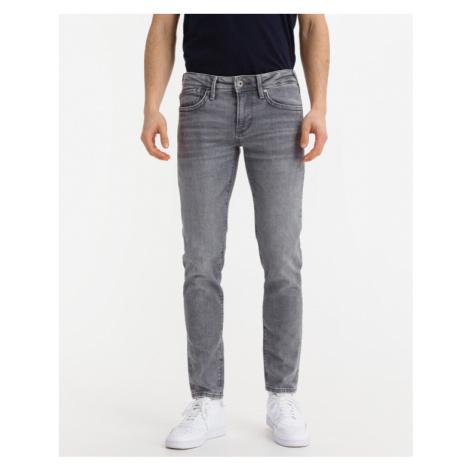 Grey men's slim jeans
