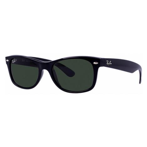 Ray-Ban New wayfarer classic Unisex Sunglasses Lenses: Green Polarized, Frame: Black - RB2132 90