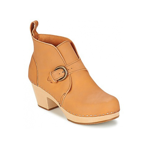 Swedish hasbeens PETRA women's Low Ankle Boots in Beige