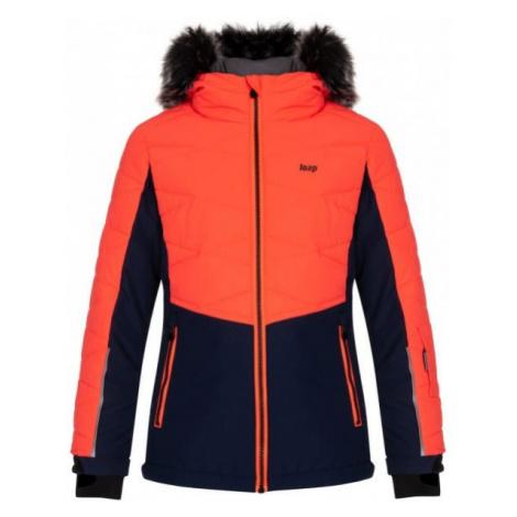 Loap OKUMA orange - Kids' skiing jacket