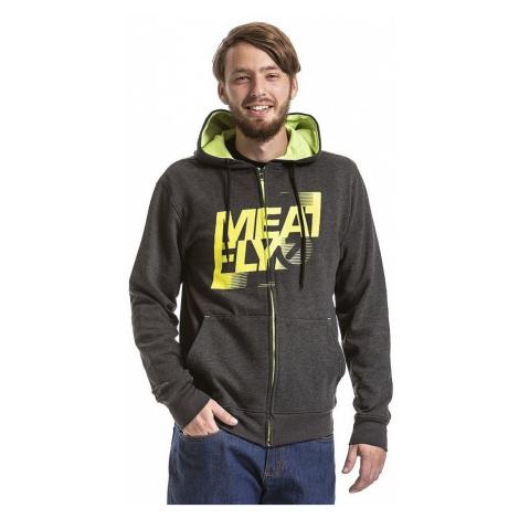 sweatshirt Meatfly Flaw 2 Zip - B/Heather Charcoal - men´s