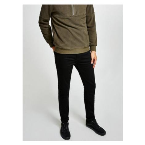 Mens Black Stretch Skinny Jeans, Black Topman