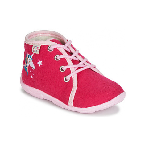 GBB FEE ARC EN CIEL girls's Children's Slippers in Pink