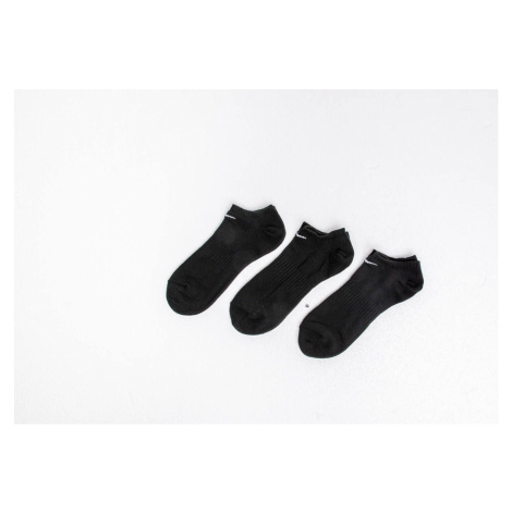 Nike Everyday Cotton Lightweight No Show Socks 3 Pack Black