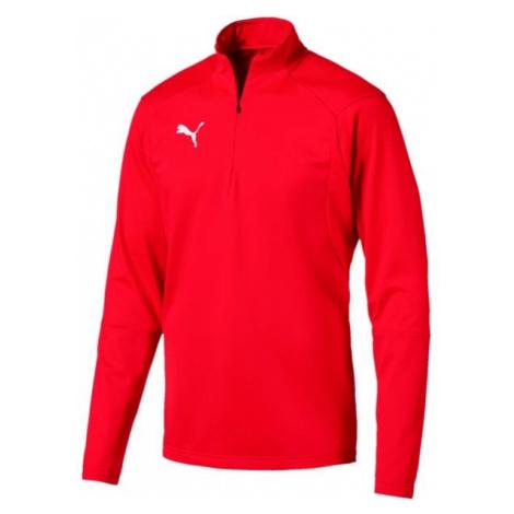 Puma LIGA TRAINING 1 4 ZIP TOP red - Men's sweatshirt