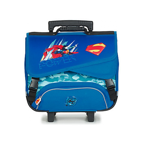Dessins Animés JUSTICE LEAGUE SUPERMAN TROLLEY CARTABLE 41 CM boys's Children's Rucksack in Blue