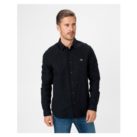 Lacoste Flamed Cotton Shirt Blue
