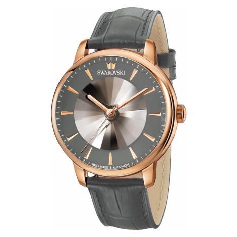 Atlantis Limited Edition Automatic Men's Watch, Leather strap, Gray, Rose-gold tone PVD Swarovski