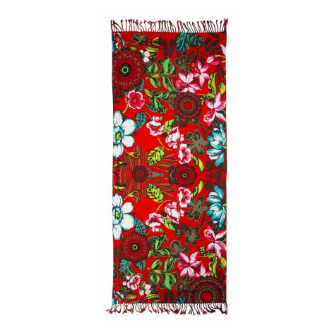 scarf Desigual 61W58A9/Kikoy Urban Jungle - 3000/Carmin