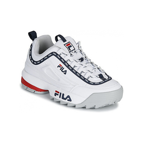 Fila DISRUPTOR LOGO LOW WMN women's Shoes (Trainers) in White