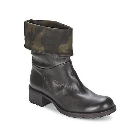 JFK TARZAN women's Mid Boots in Black