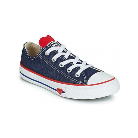 Converse CHUCK TAYLOR ALL STAR SUCKER FOR LOVE DENIM OX girls's Children's Shoes (Trainers) in B