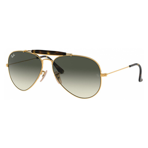 Ray-Ban Outdoorsman havana collection Unisex Sunglasses Lenses: Gray, Frame: Gold - RB3029 181/7