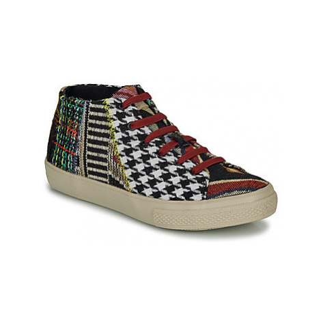 Desigual VULCANO PATCH women's Shoes (High-top Trainers) in Black