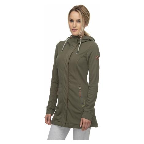 sweatshirt Ragwear Letty Zip - 5031/Olive - women´s