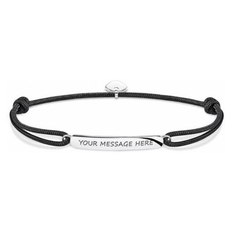 THOMAS SABO Rebel Black Engravable Bracelet
