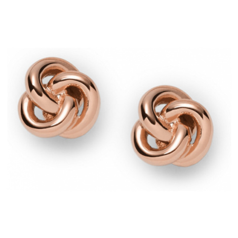 Fossil Women Knot Studs Gold - One size