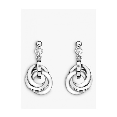 Hot Diamonds Trio Drop Earrings, Silver