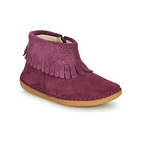 Clarks SKYLARK FORM T girls's Children's Mid Boots in Pink