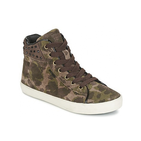 Geox KIWI GIRL girls's Children's Shoes (High-top Trainers) in Green