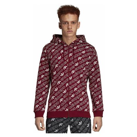 sweatshirt adidas Originals Monogram Zip - Collegialite Burgundy - men´s