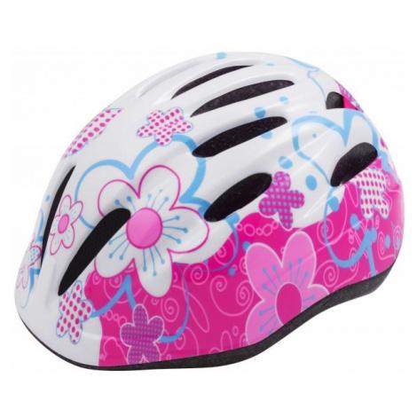 Pink cycling helmets
