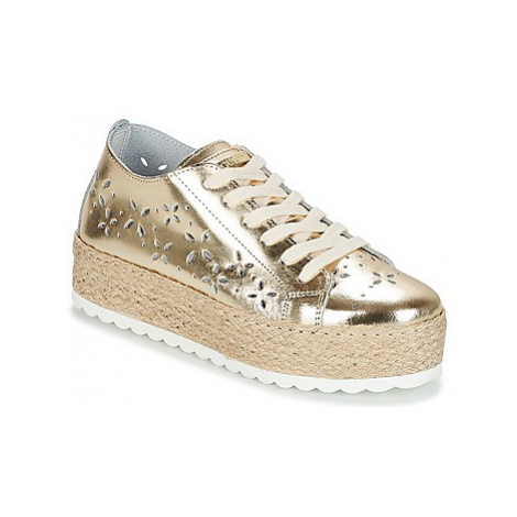 Guess MARLEY women's Shoes (Trainers) in Gold