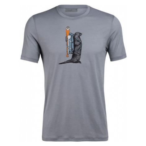 Icebreaker TECH LITE SS CREWE OTTER PADDLE - Men's functional T-shirt Icebreaker Merino