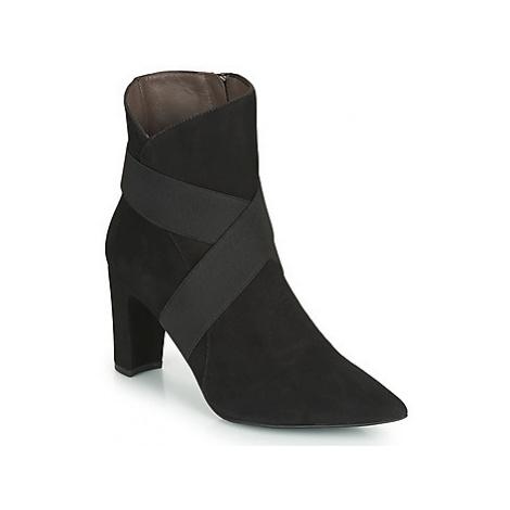 Perlato 11327-CAM-NOIR women's Low Ankle Boots in Black