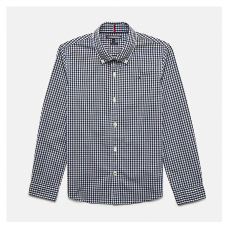 Tommy Hilfiger Boys' Long Sleeve Gingham Shirt - Sky Captain