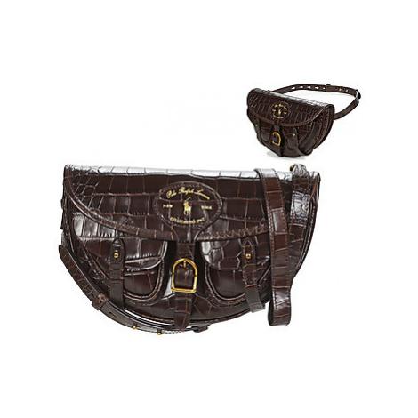 Polo Ralph Lauren HUTTON CONV BELT BAG EMBBOSSED LTHR women's Shoulder Bag in Brown