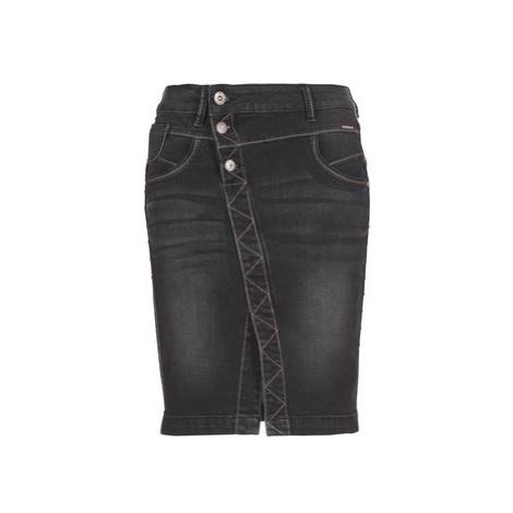 Cream STINNA women's Skirt in Black