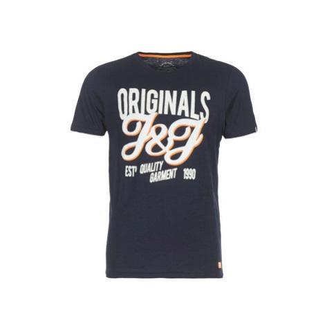 Jack Jones JORBORDING men's T shirt in Blue Jack & Jones