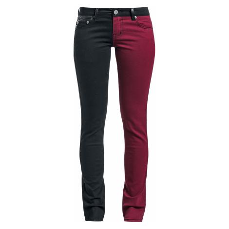 Black Premium by EMP - Skarlett - Girls trousers - black-red