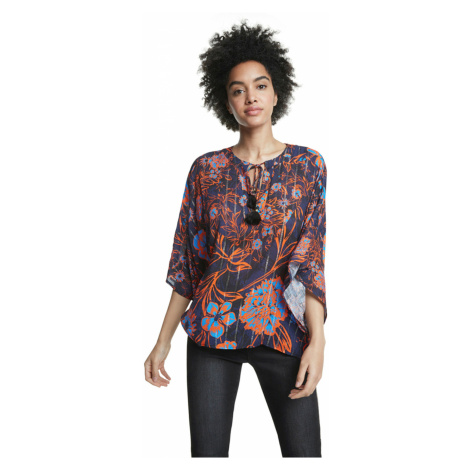 Desigual Siena Blouse Blue Red