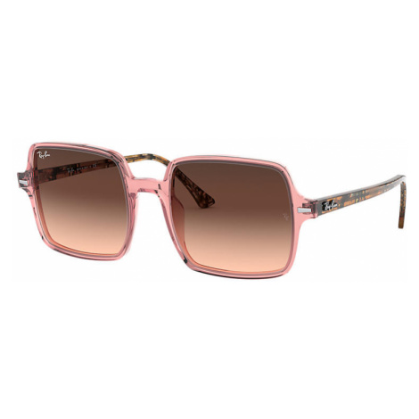 Ray-Ban Square II Women Sunglasses Lenses: Pink, Frame: Brown havana - RB1973 1282A5 53-20