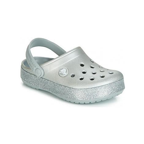 Crocs CROCBAND GLITTER CLOG K girls's Children's Clogs (Shoes) in Silver