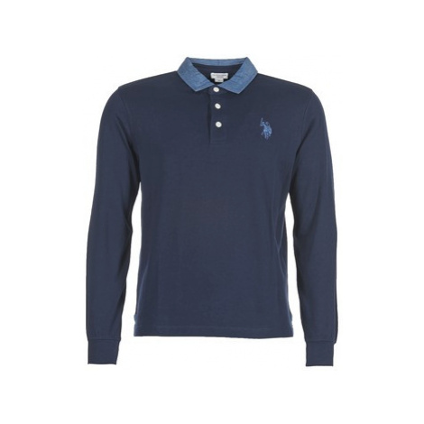 U.S Polo Assn. VINTAGE FLAG men's Polo shirt in Blue U.S. Polo Assn