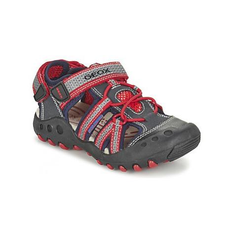 Geox J SAND.KYLE C boys's Children's Sandals in Grey